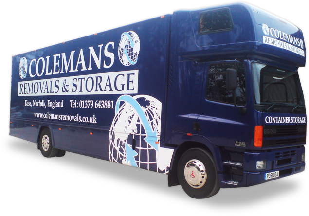 Image of a large Colemans removals truck